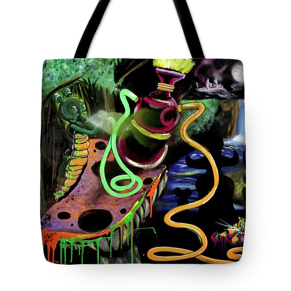 Tote Bag featuring the painting Wonderland by eVol i
