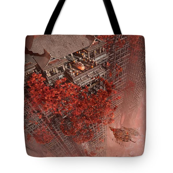 Tote Bag featuring the digital art Wonders Liyomizu by Te Hu