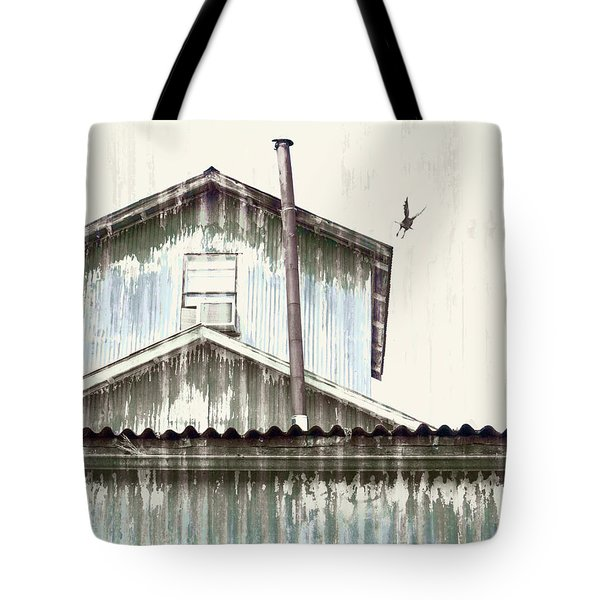 Wonky Stovepipe Industrial Art Tote Bag