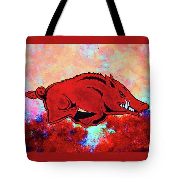 Woo Pig Sooie 3 Tote Bag by Belinda Nagy