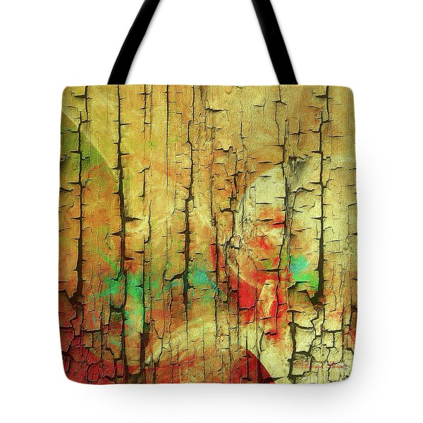 Tote Bag featuring the digital art Wood Abstract by Deborah Benoit