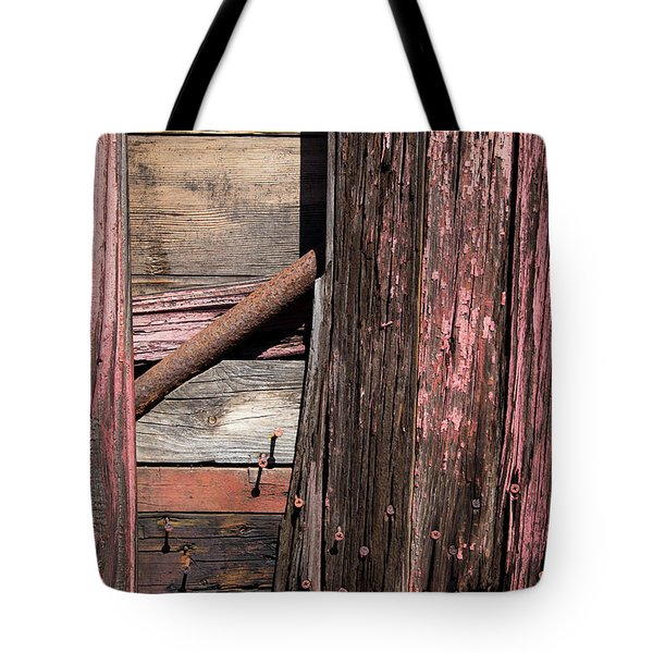 Tote Bag featuring the photograph Wood And Rod by Karol Livote