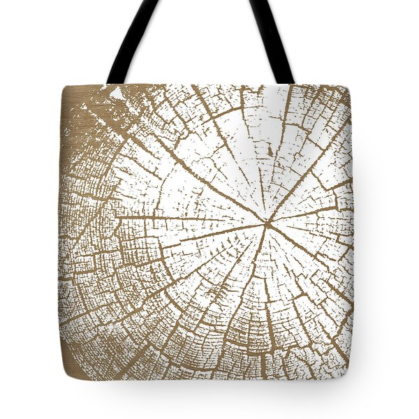 Wood And White- Art By Linda Woods Tote Bag by Linda Woods