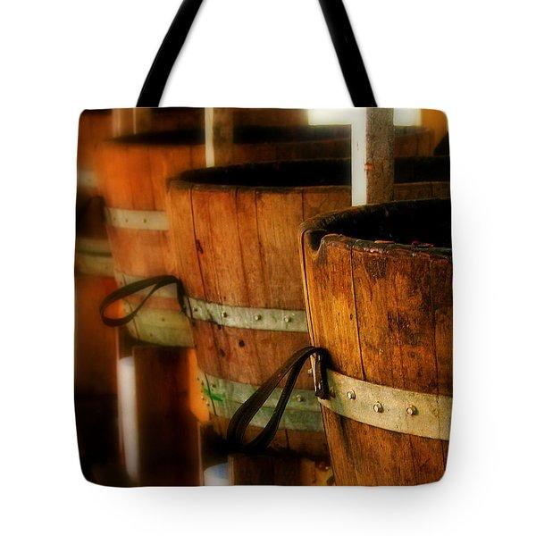 Wood Barrels Tote Bag by Perry Webster