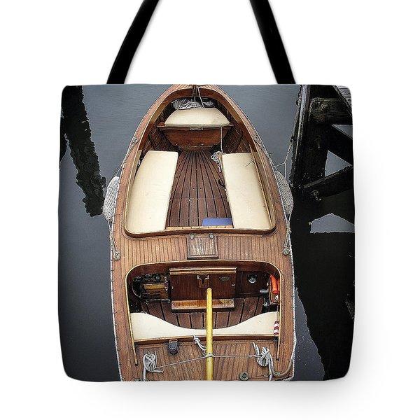 Wood Boat Nantucket Tote Bag