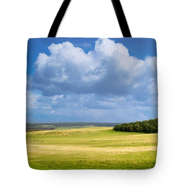 Wood Copse On A Hill Tote Bag