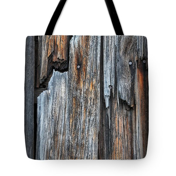 Wood Deatail Tote Bag