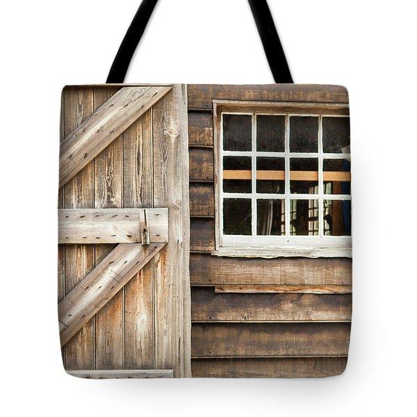 Wood Door And Window Tote Bag