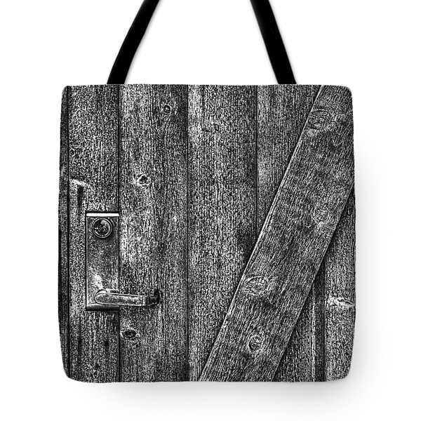 Wood Door With Handle Detail Tote Bag
