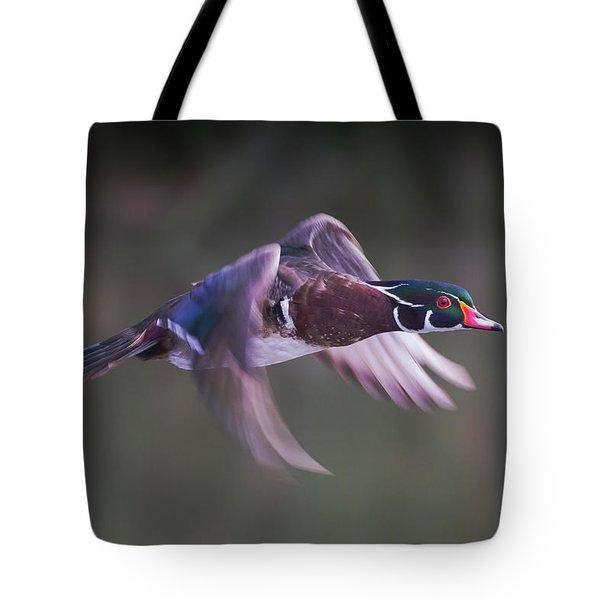 Wood Duck Flight Tote Bag