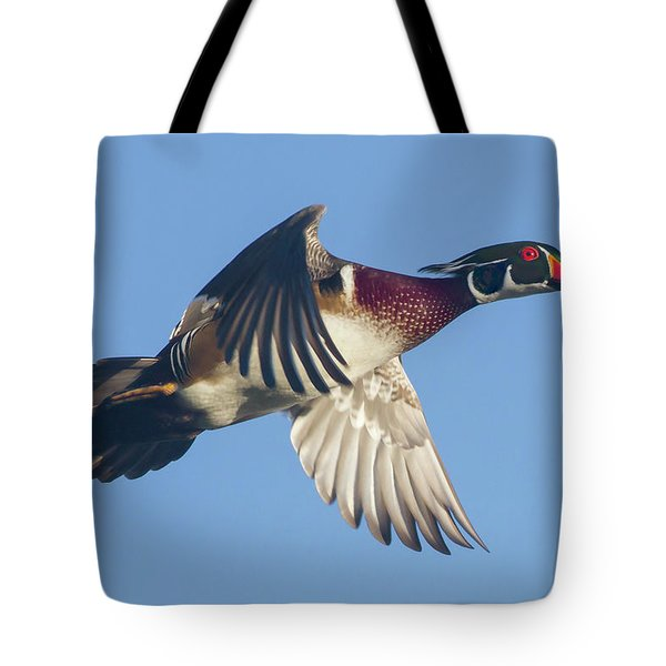 Wood Duck Flying Fast Tote Bag