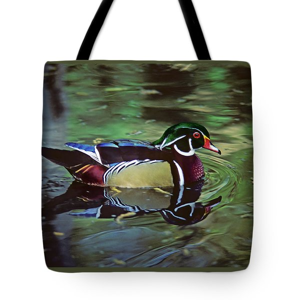 Tote Bag featuring the photograph Wood Duck by Marie Hicks