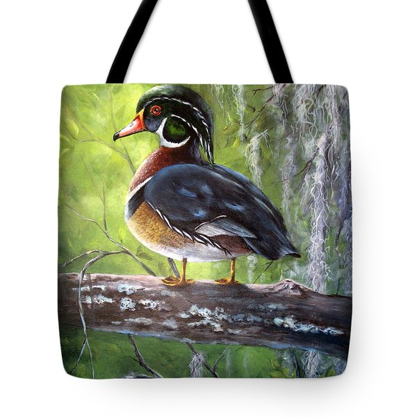 Wood Duck Tote Bag by Mary McCullah