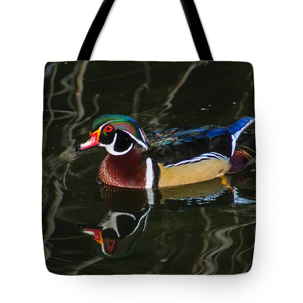 Wood Duck Reflections Tote Bag