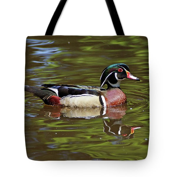 Tote Bag featuring the photograph Wood Duck by Sandy Keeton