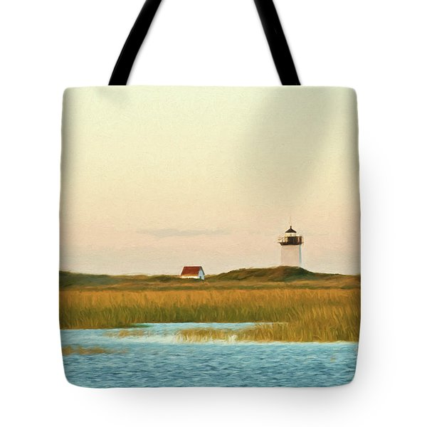 Wood End Lighthouse Tote Bag