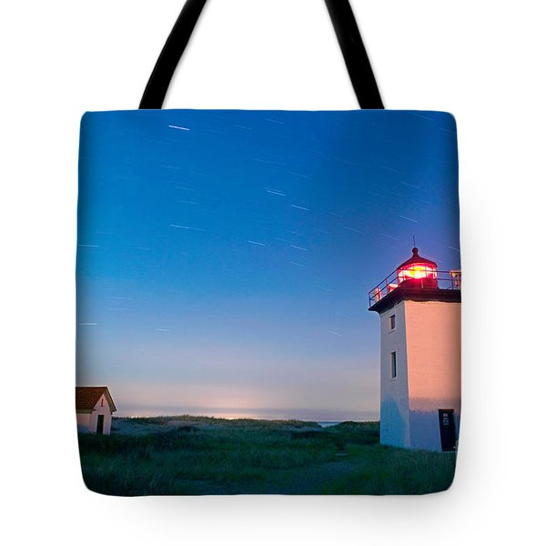 Wood End Lighthouse Provincetown Cape Cod Tote Bag by Matt Suess