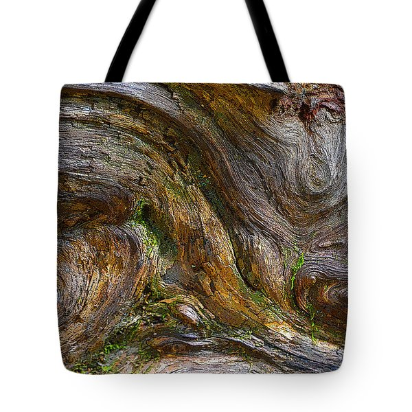 Wood Grain Tote Bag