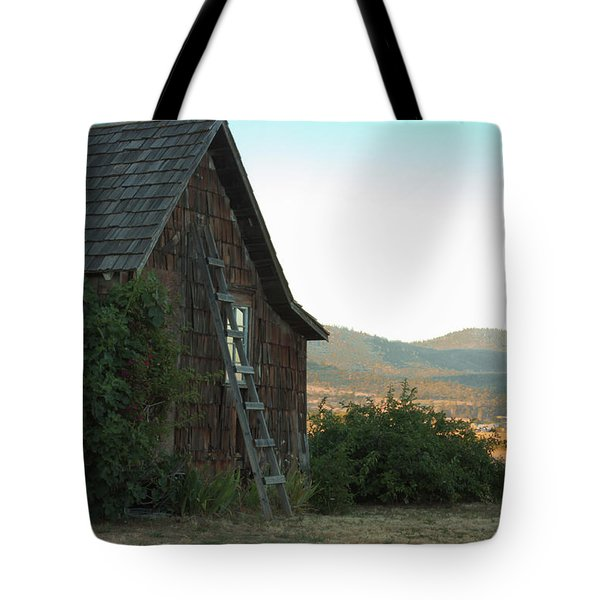 Wood House Tote Bag