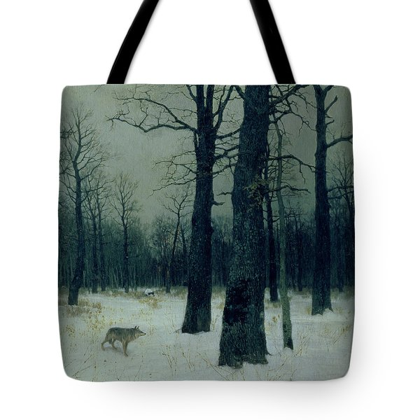 Wood In Winter Tote Bag