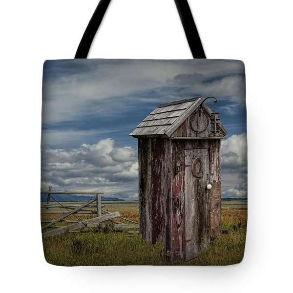 Wood Outhouse Out West Tote Bag