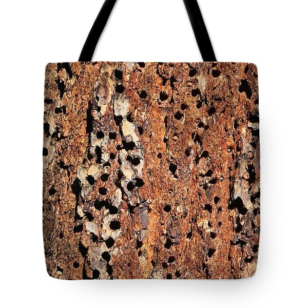 Wood Pecker Expressions  Tote Bag by Christy Pooschke