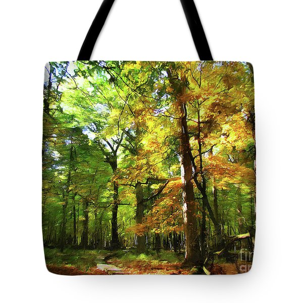 Wood Plank Trail Tote Bag