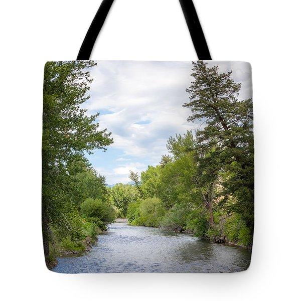 Wood River Crossing Tote Bag