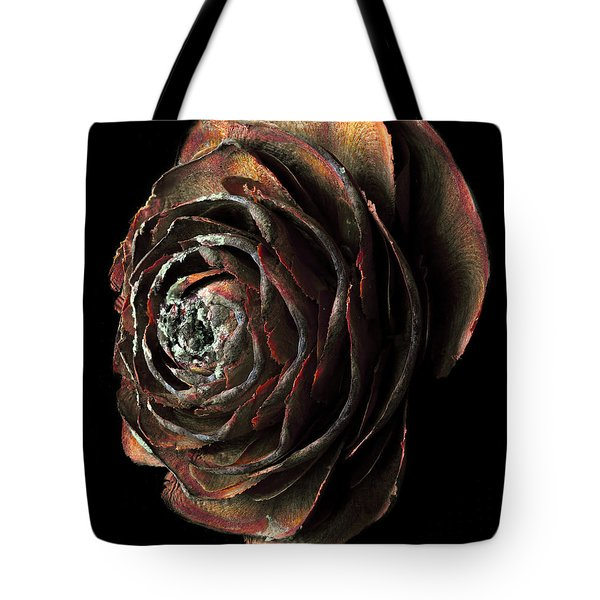 Wood Rose Tote Bag