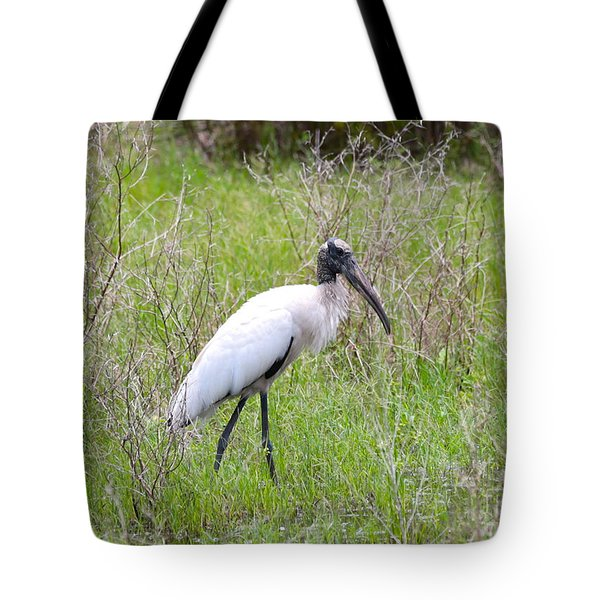 Wood Stork In The Marsh Tote Bag