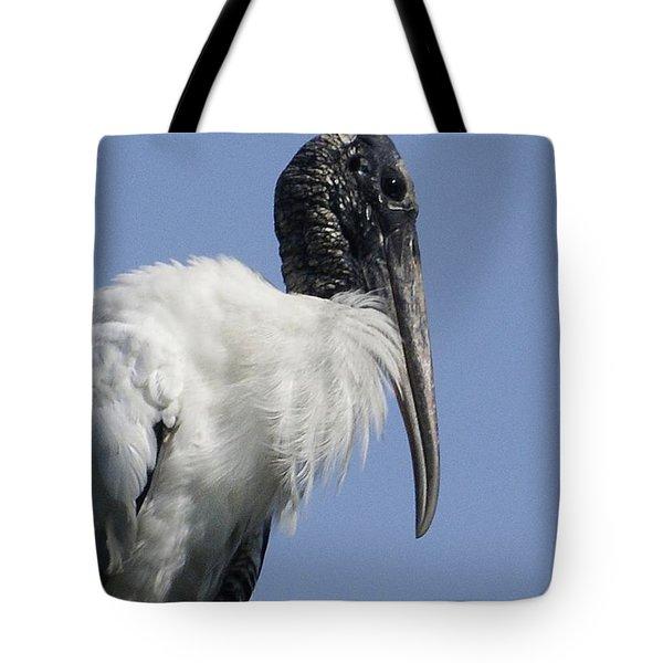 Wood Stork Portrail Tote Bag