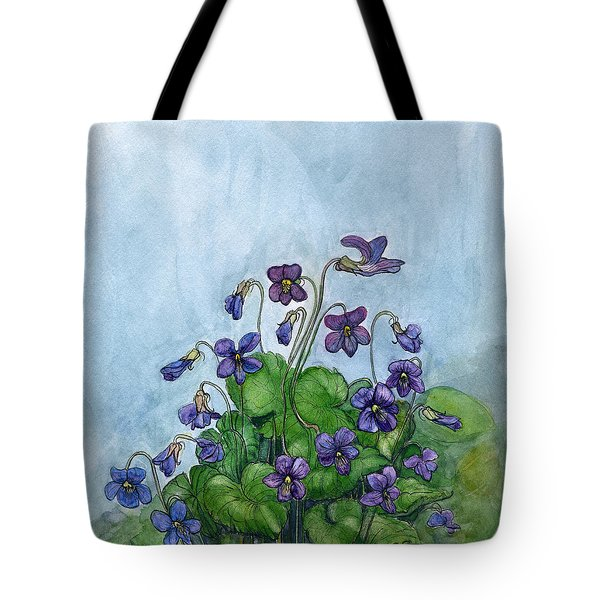 Wood Violets Tote Bag