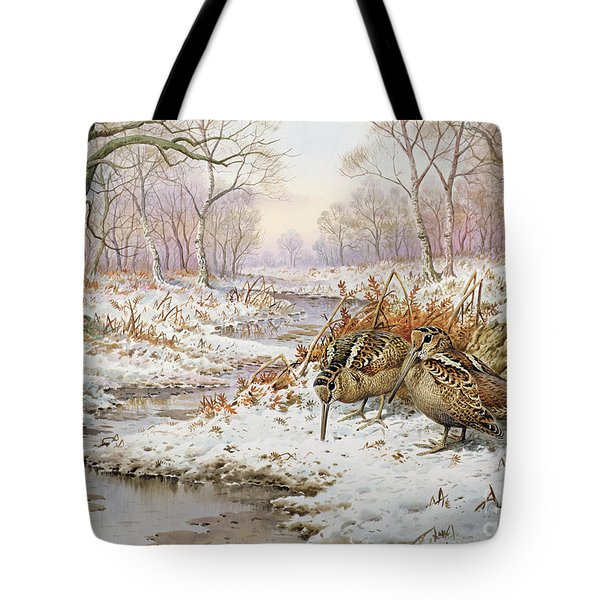 Woodcock Tote Bag by Carl Donner