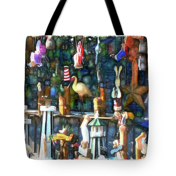 Woodcraft Giftshop In Montour Falls Tote Bag