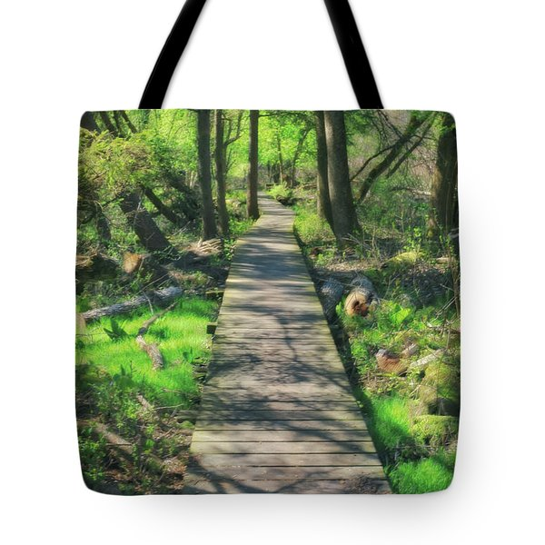 Wooded Path - Spring At Retzer Nature Center Tote Bag by Jennifer Rondinelli Reilly - Fine Art Photography