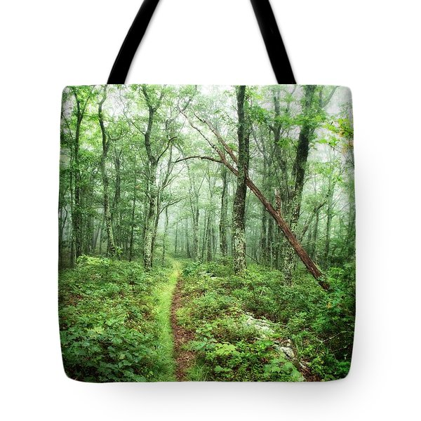 Tote Bag featuring the photograph Wooded Trail by Alan Raasch