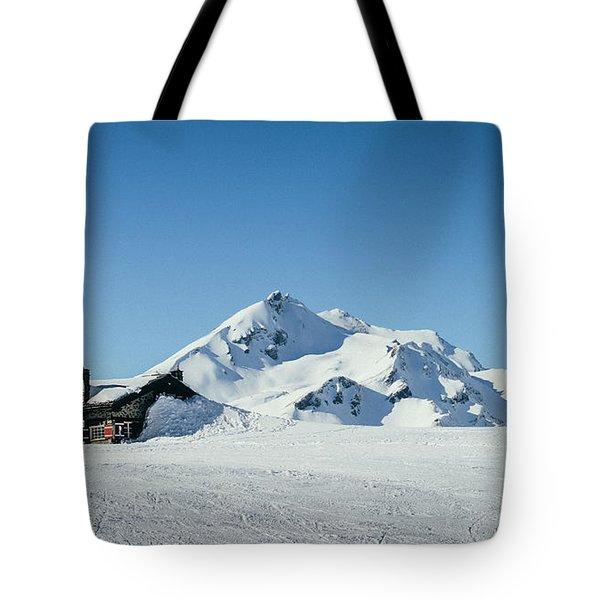 Wooden Alpine Cabin  Tote Bag