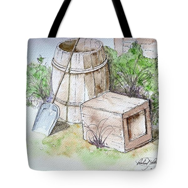 Wooden Barrel And Crate Tote Bag