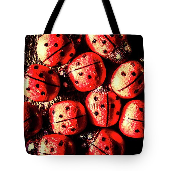 Wooden Beetle Bugs Tote Bag