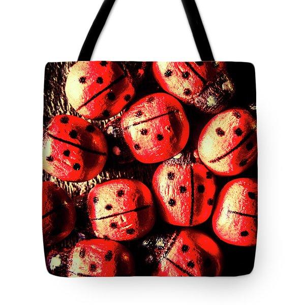 Wooden Beetle Bugs Tote Bag