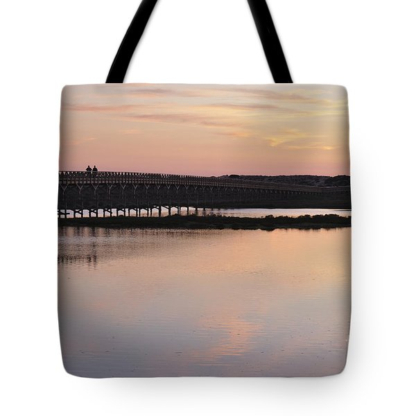 Wooden Bridge And Twilight Tote Bag