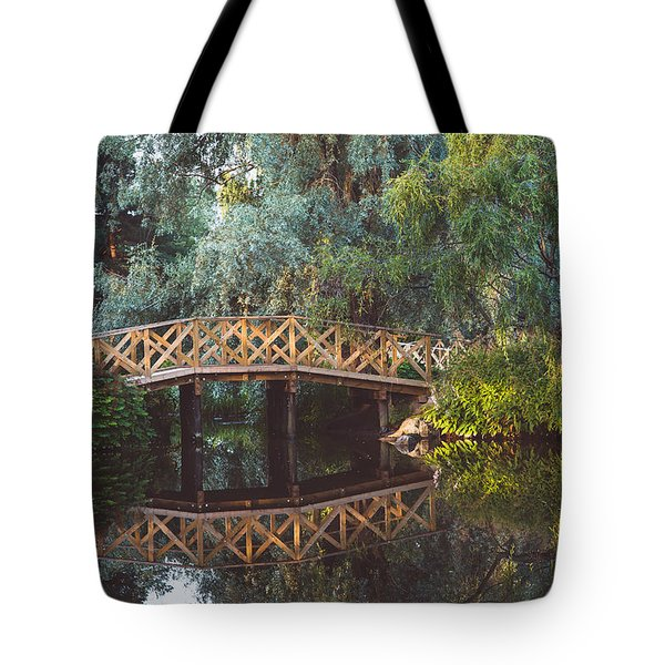Tote Bag featuring the photograph Wooden Bridge by Ari Salmela