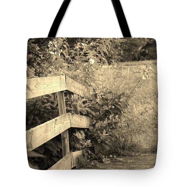 Wooden Bridge Tote Bag