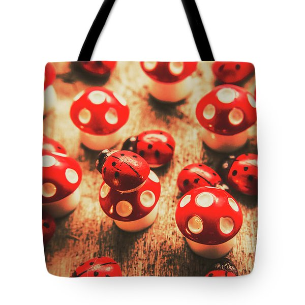 Wooden Bugs And Plastic Toadstools Tote Bag