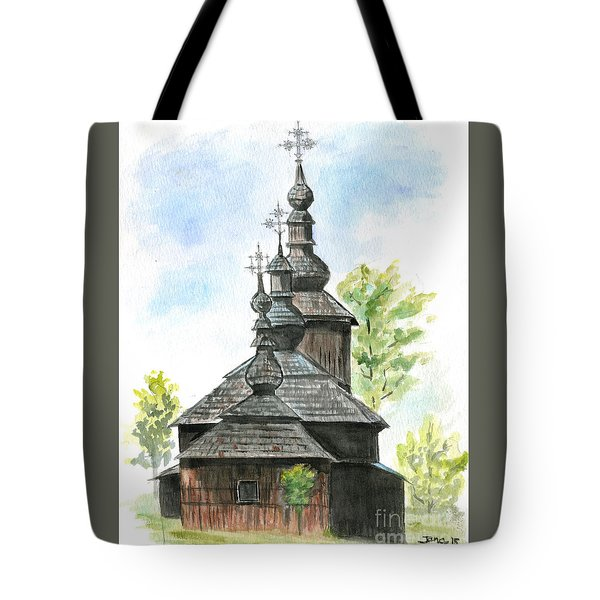 Wooden Church Tote Bag by Jana Goode