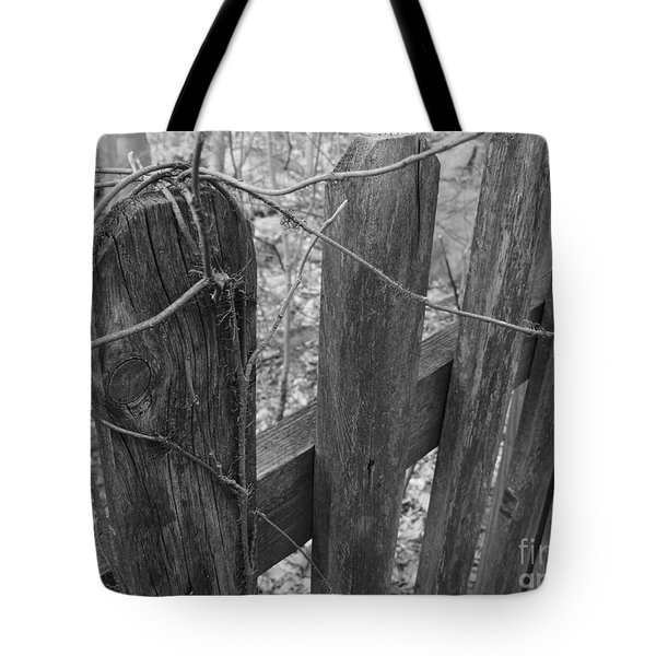 Wooden Fence Tote Bag by Jeff Breiman