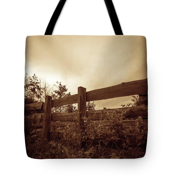 Wooden Fence Tote Bag