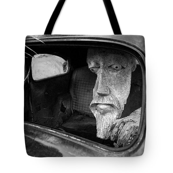 Wooden Head Tote Bag