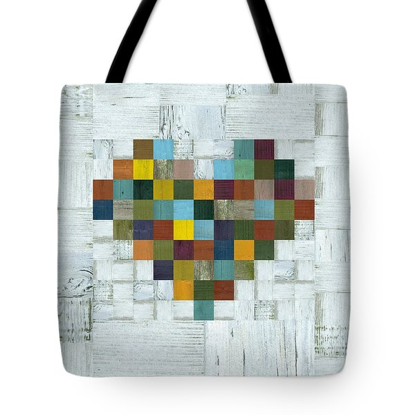 Wooden Heart 2.0 Tote Bag by Michelle Calkins