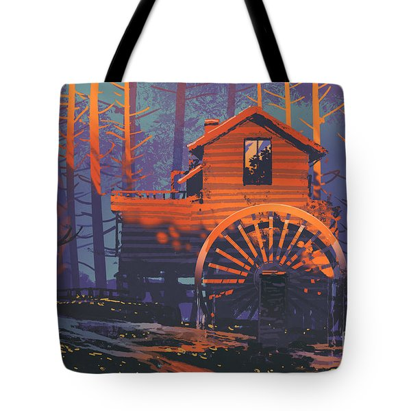 Wooden House Tote Bag